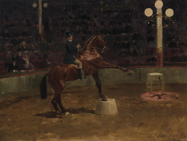 Emile Meyer, 'Horse Show', 1891, Painting, Oil on board, Doyle