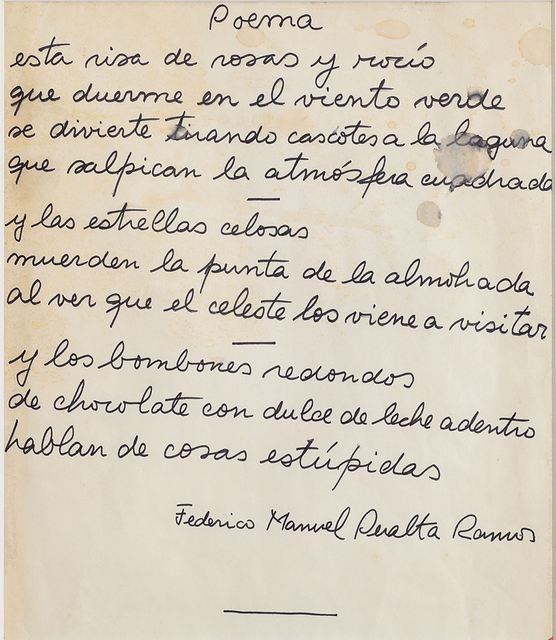 , 'Poema (dedicado a Marta Minujin),' ca. 1967, Del Infinito