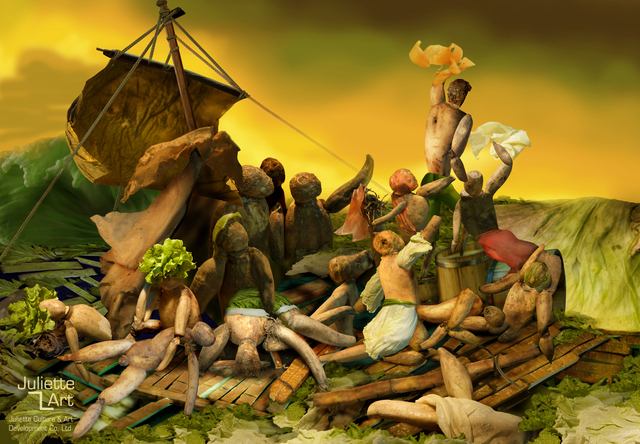 , 'The Raft of the Lotus Root,' 2008, Juliette Culture and Art Development Co. Ltd.
