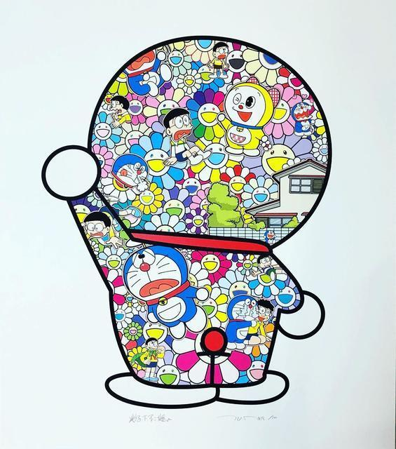 Takashi Murakami, 'Doraemon in the Field of Flowers', 2019, Vogtle Contemporary