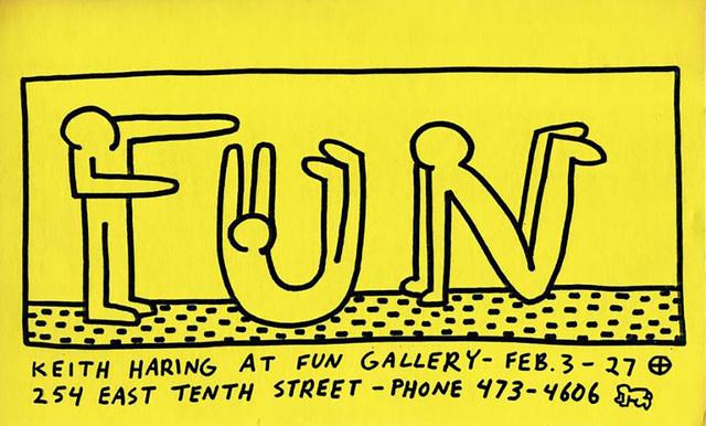 Keith Haring, 'Keith Haring at Fun Gallery New York 1983 ', 1983, Lot 180
