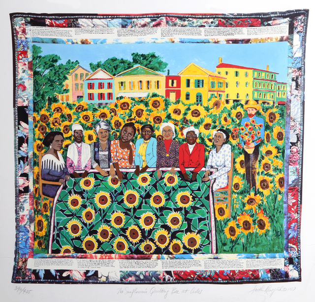 Faith Ringgold | The Sunflower's Quilting Bee at Arles (1997 ...