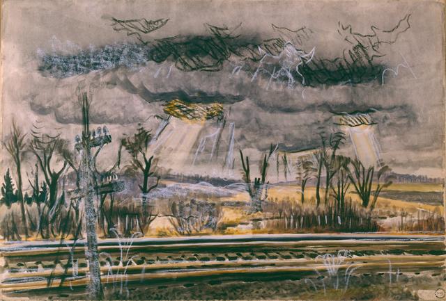 , 'November Railroad-Mood,' 1946, DC Moore Gallery