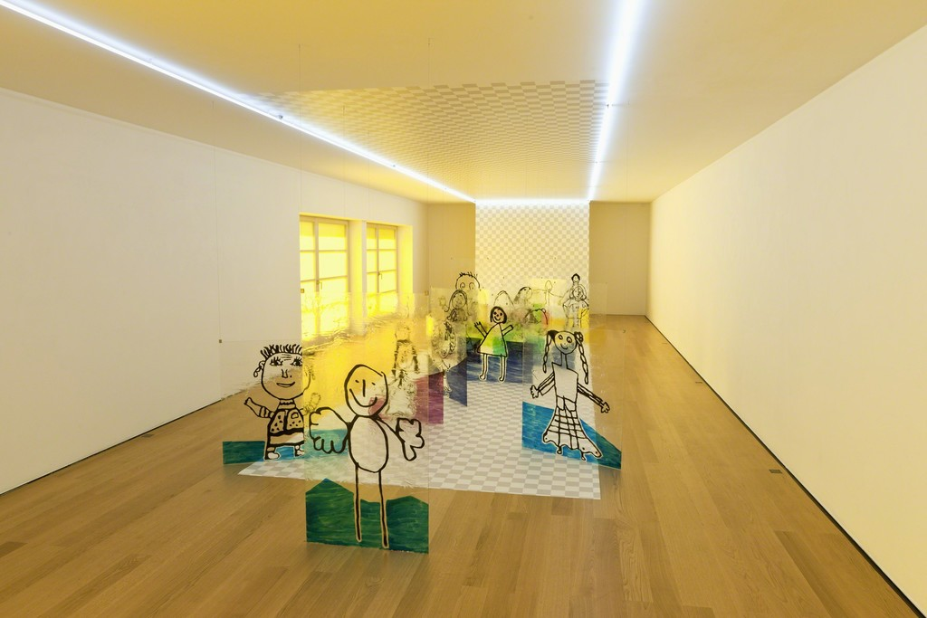 Installation view Flaka Haliti at Galerie Rüdiger Schöttle, 2016.