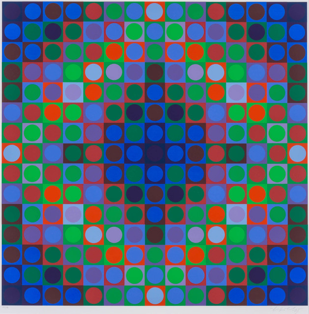 Victor Vasarely, 'COMPOSITION', Print, Color screenprint, Doyle