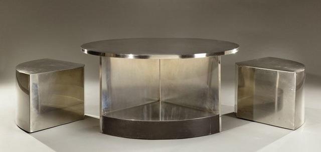 , 'Two-Seat Tambour Table,' 1968, Galerie Dutko
