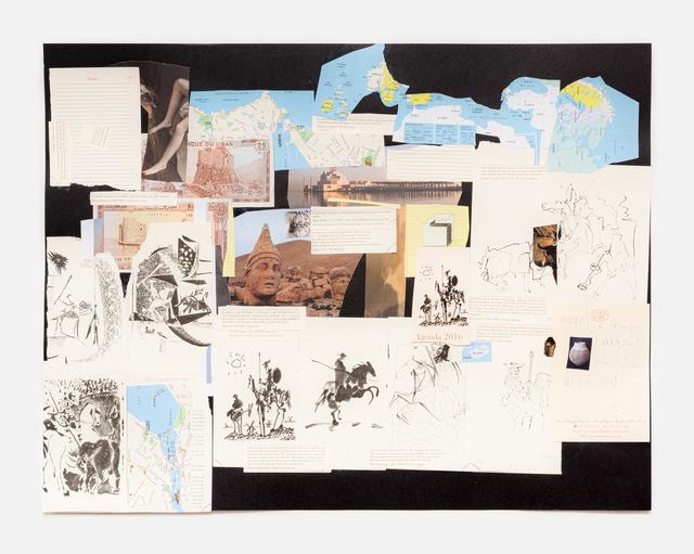 Simone Fattal, 'Avec les temps l'argent n'a plus de valeur', 2020, Drawing, Collage or other Work on Paper, Collage, Galerie Hubert Winter