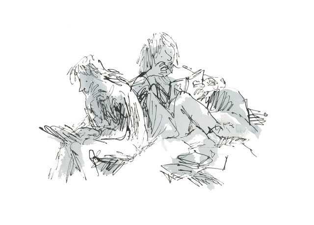 Quentin Blake, 'An Anthology of Readers', 2019, Shapero Modern
