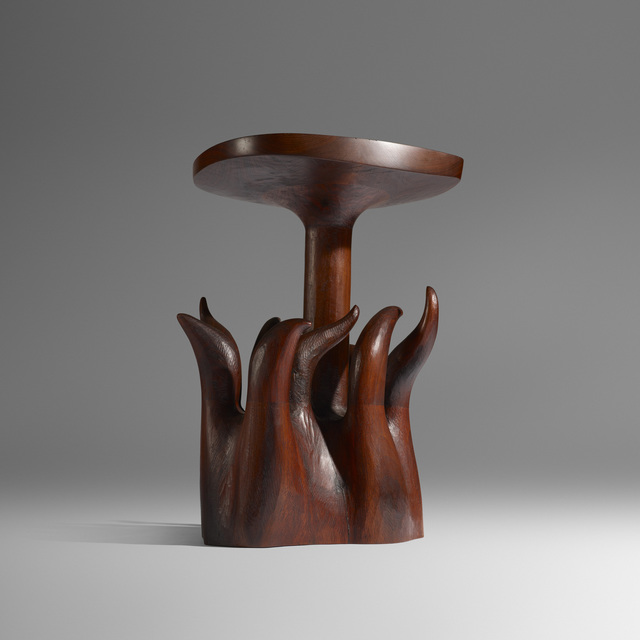 Wendell Castle, 'Early and Important Table', c. 1966, Design/Decorative Art, Stack-laminated and carved walnut, Rago/Wright