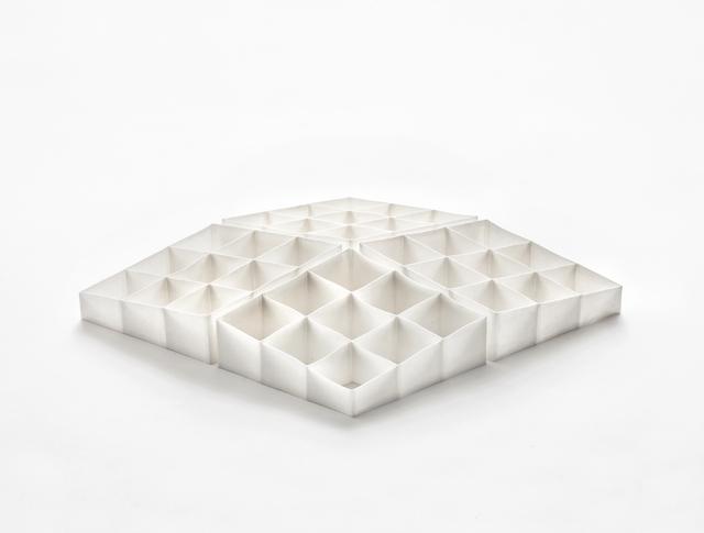 , 'White Lozenge Shapes Set of Four ,' 2016, Lacoste Gallery