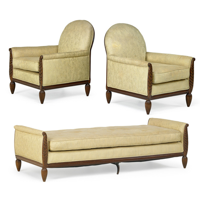 Strange Paul Follot Four Lounge Chairs And Daybed France 1920S Ocoug Best Dining Table And Chair Ideas Images Ocougorg