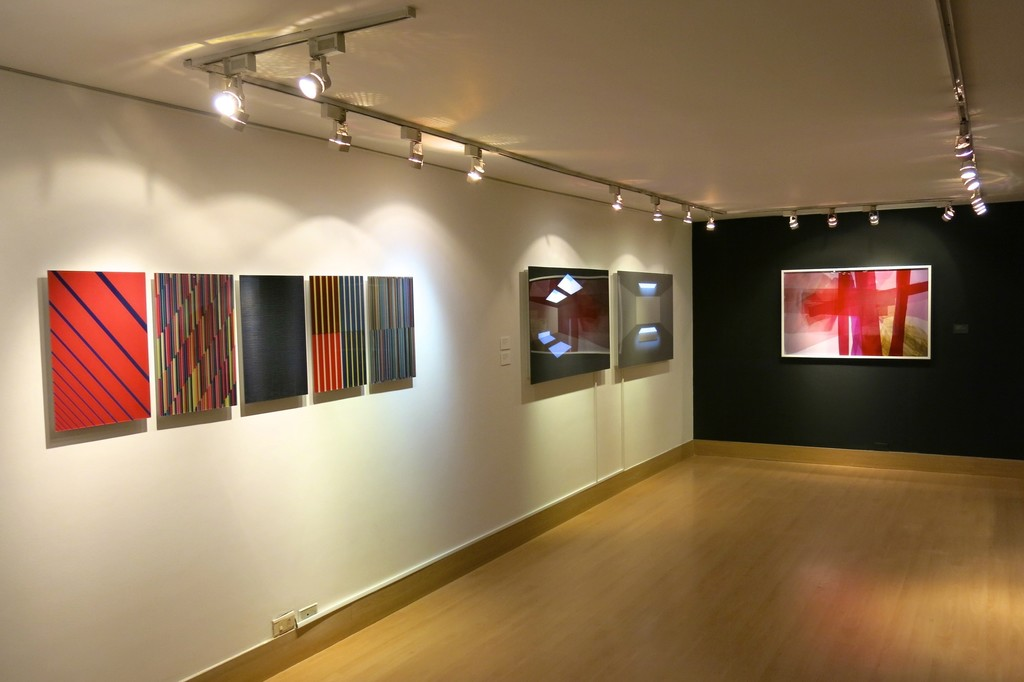 Works by Roland Fischer, Anibal Gomescasseres and Lorenza Panero.