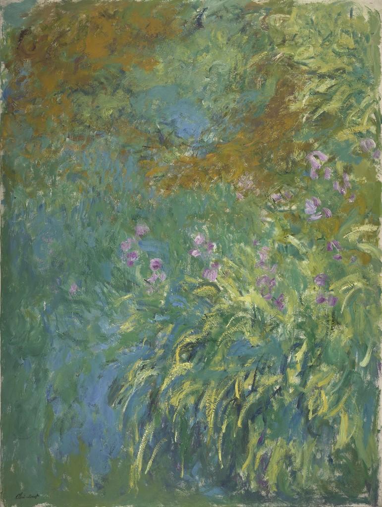 Claude Monet Irises By The Pond 1914 1917