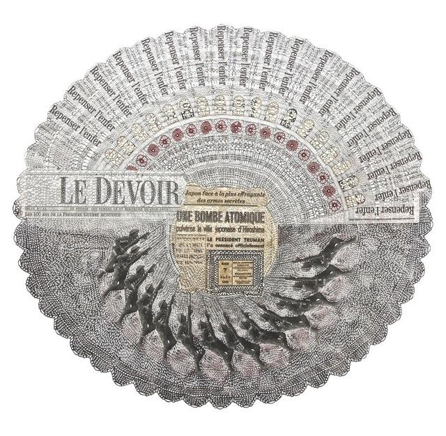 , 'Le Parisien, 1945 / Le Devoir, 100 ans après,' 2014, Division Gallery