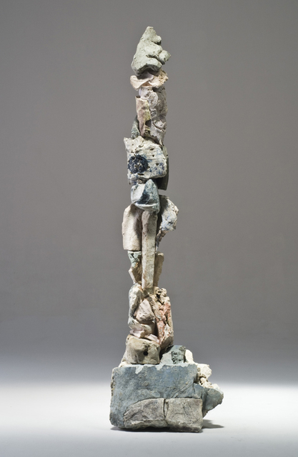 Stephen De Staebler, 'Figure with Blue Black Dot', 2010, Sculpture, Clay, Dolby Chadwick Gallery
