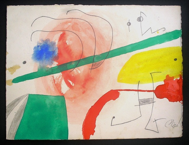 Joan Miró, 'Personnage et oiseaux dans un paysage', Nicholas Gallery