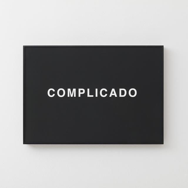 , 'COMPLICADO,' 2018, Carbono Galeria