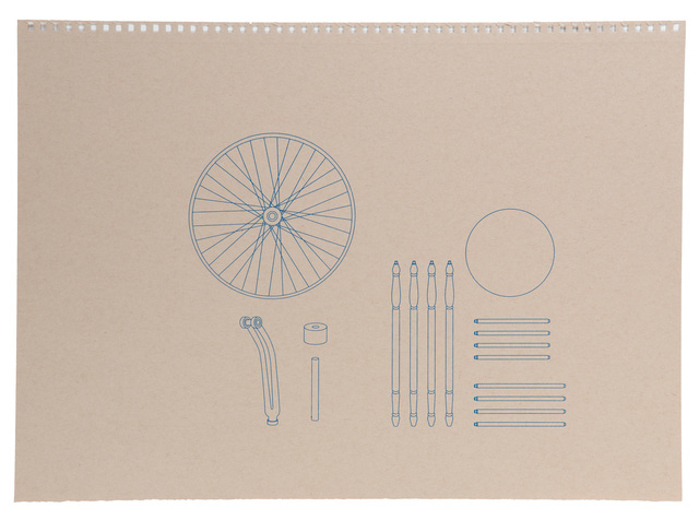 Analia Saban, 'Assembly Instructions (Blueprint for Bicycle Wheel)', 2015, John Moran Auctioneers