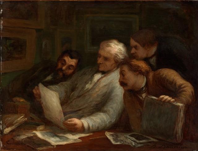 Honoré Daumier, 'The Print Collectors', 1860-1863, Clark Art Institute