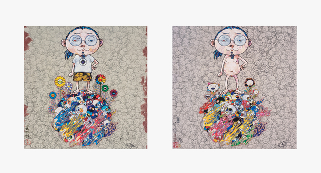 Takashi Murakami, 'Naked Me Contemplates Death (Memento Mori) and Flower and Death and Me and... (two works)', 2013, Heritage Auctions