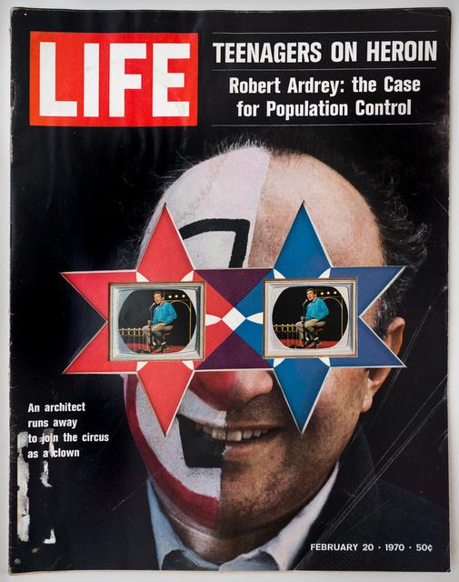 , 'LIFE  Cutout  No.  130  (February  20,  1970,  Architect  Clown  RPB),' 2018, Luis De Jesus Los Angeles