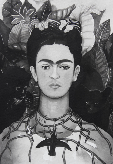 ", 'Frida Kahlo, from the series ""Female Heroes"",' 2016, PRISKA PASQUER"
