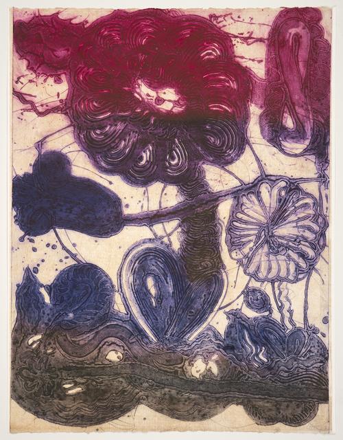 , 'Garden (daisy, magenta, violet, pheasant),' 2019, Manneken Press