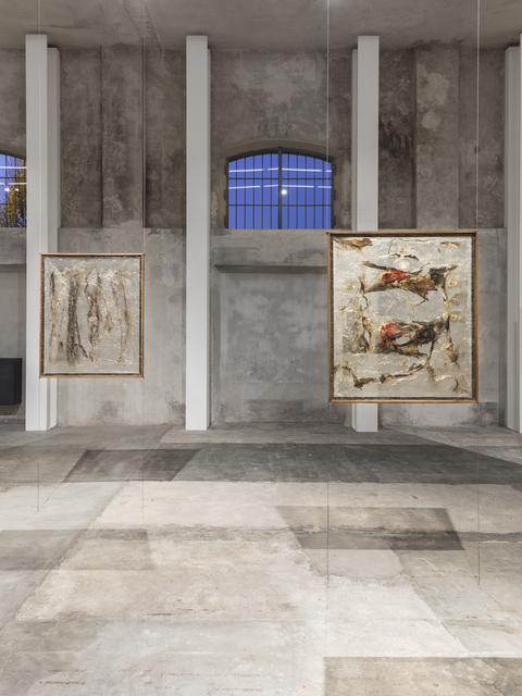 , 'Exhibition view featuring Alberto Burri, Plastica, 1962 and Alberto Burri, Plastica 8, 1963,' 1962-1963, Fondazione Prada