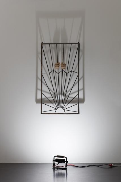 Oleg Kulik, 'Grids', 2019, Installation, Polymeric clay, iron grid, spotligh, Giampaolo Abbondio