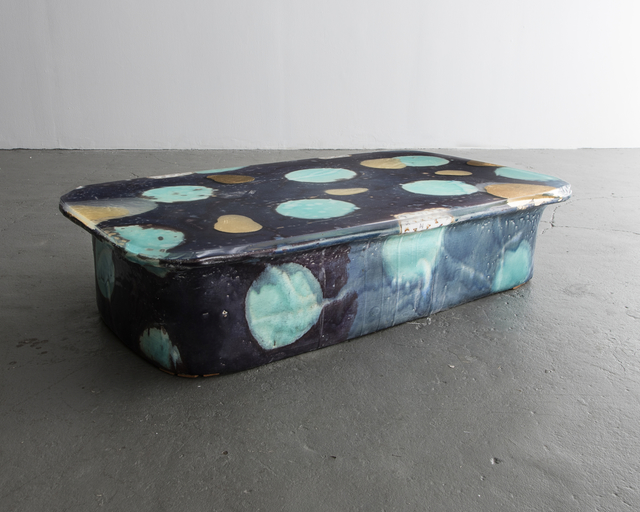 , 'Low Table in Glazed Ceramic with Gold Leaf,' 2016, R & Company