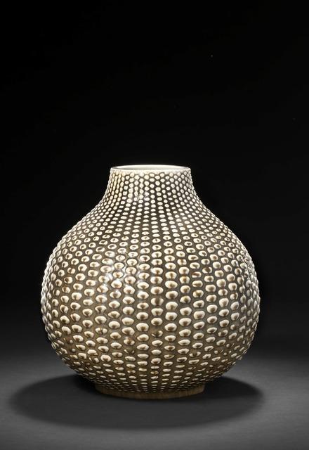 Axel Salto, 'A round stoneware vase modelled in budded style. Decorated with solfatara glaze.', Bruun Rasmussen