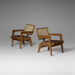 Rare lounge chairs from Chandigarh, pair