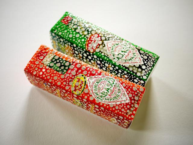 , 'Colorblind Shopper (Tobasco Pepper Sauce, original & green jalapeno),' 2013, Josée Bienvenu