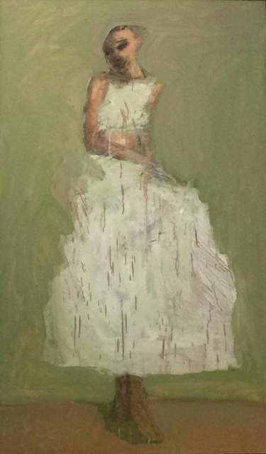 John Goodman, 'Figure in White / oil on canvas', 2004, Andra Norris Gallery