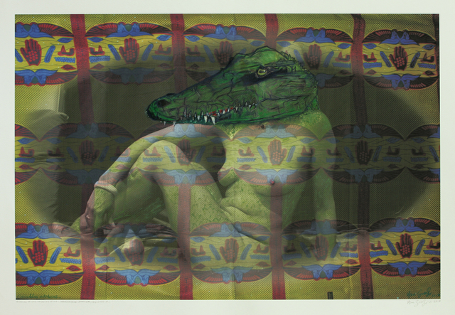", 'Crocodilus niloticus (Crocodile) - from the series ""Thinking of You Thinking of Me"",' 2017, Guns and Rain"
