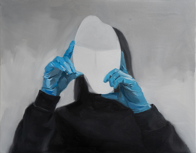 Ruxue Zhang, 'Blue Gloves 2', 2019, Painting, Oil on Canvas, CULT | Aimee Friberg Exhibitions