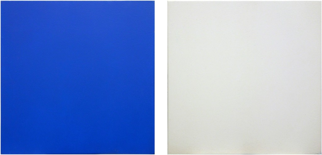 Untitled Diptych (Blue/White)