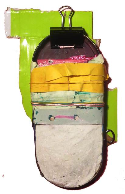 , 'Alarma sin corazón con pequeños horizontesarrugados y extensión verde a sus espaldas,' 2014, Galeria Trama