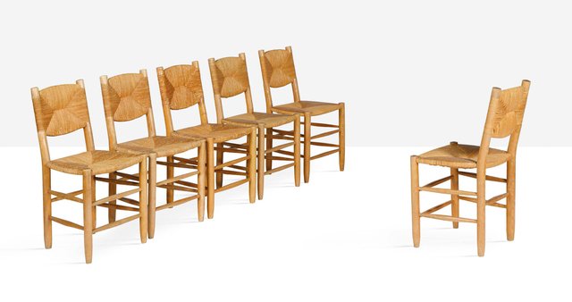 Charlotte Perriand, 'Set of 6 chairs', circa 1947, Aguttes