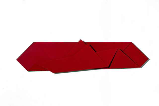 , 'Large Red Folded Flat Red 01,' 2015, Häusler Contemporary