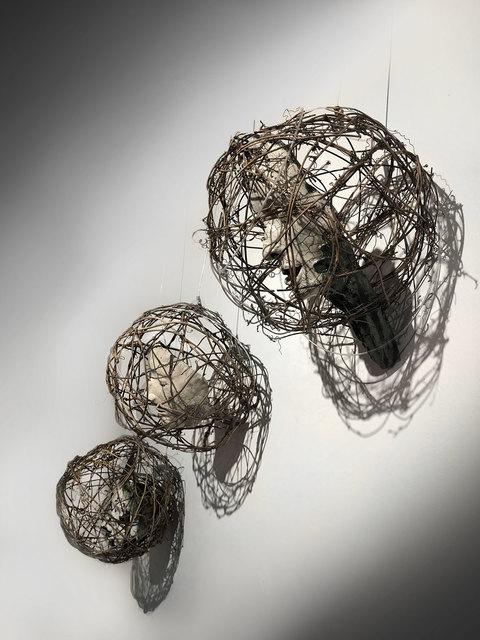 Trish Classe Gianakis, 'Caged', 2020, Sculpture, Raku Ceramic, wire, vines, SHIM Art Network