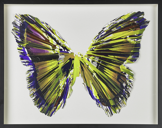 , 'Butterfly Spin Painting (Created at Damien Hirst Spin Workshop),' 2009, Omer Tiroche Gallery