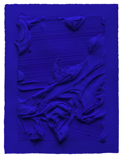 , 'Untitled Ultra Blue,' 2014, Mixografia