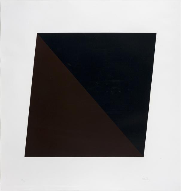 Ellsworth Kelly, 'Black/Brown', 1970, Susan Sheehan Gallery