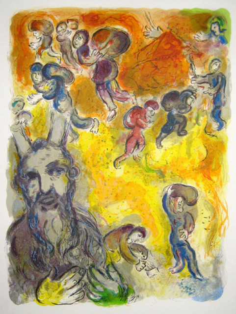 Marc Chagall, 'Moses Sees the Sufferings of His People', 1966, Print, Lithograph, Galerie d'Orsay