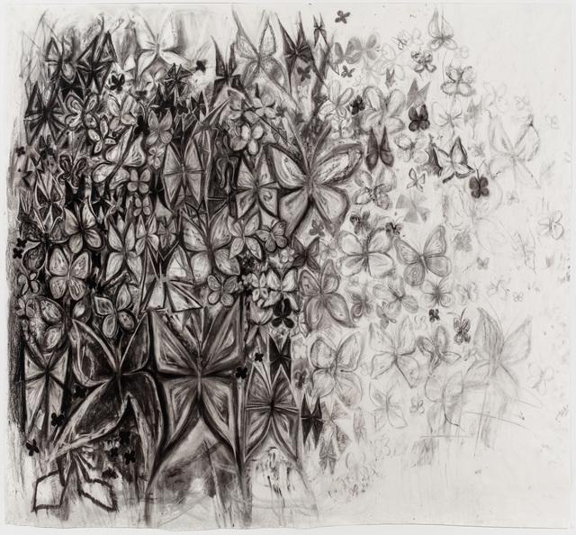 , 'Untitled (Butterflies 1),' 2017, P.P.O.W