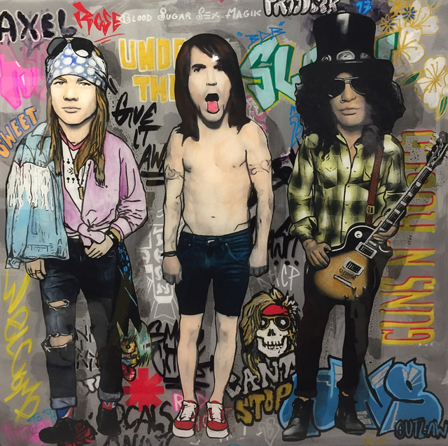 , 'Axl, Kiedis, and Slash,' 2016, Mouche Gallery