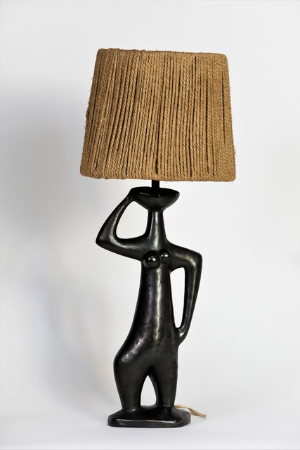", '""La Muse"", table lamp,' ca. 1960, Lebreton"