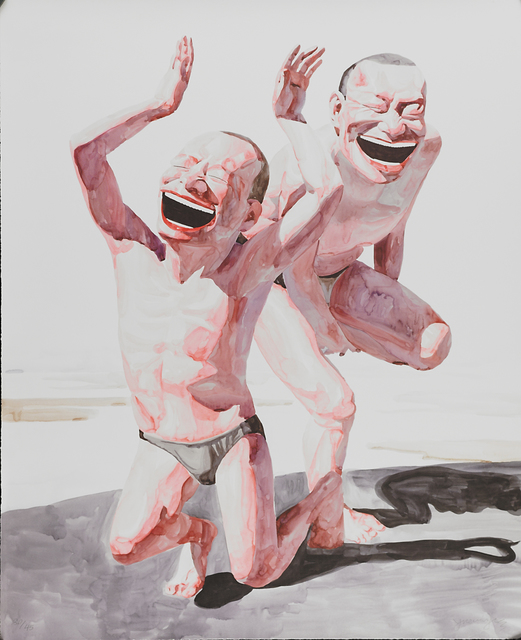 Yue Minjun, 'Untitled (Smile-ism No. 20)', 2006, Print, Lithograph in colors, Rago/Wright