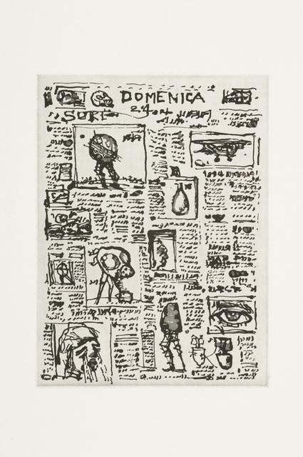 William Kentridge, 'Newspaper Unread', 2007, David Krut Projects
